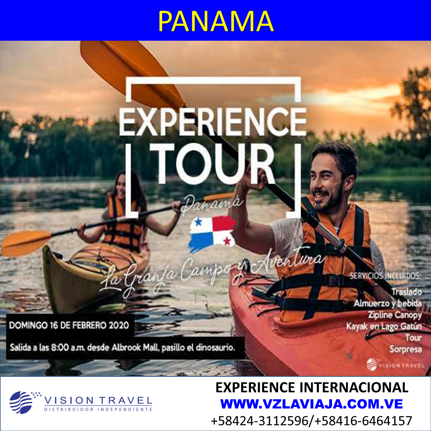 Plan Full Day Experience Tour Panamá USD
